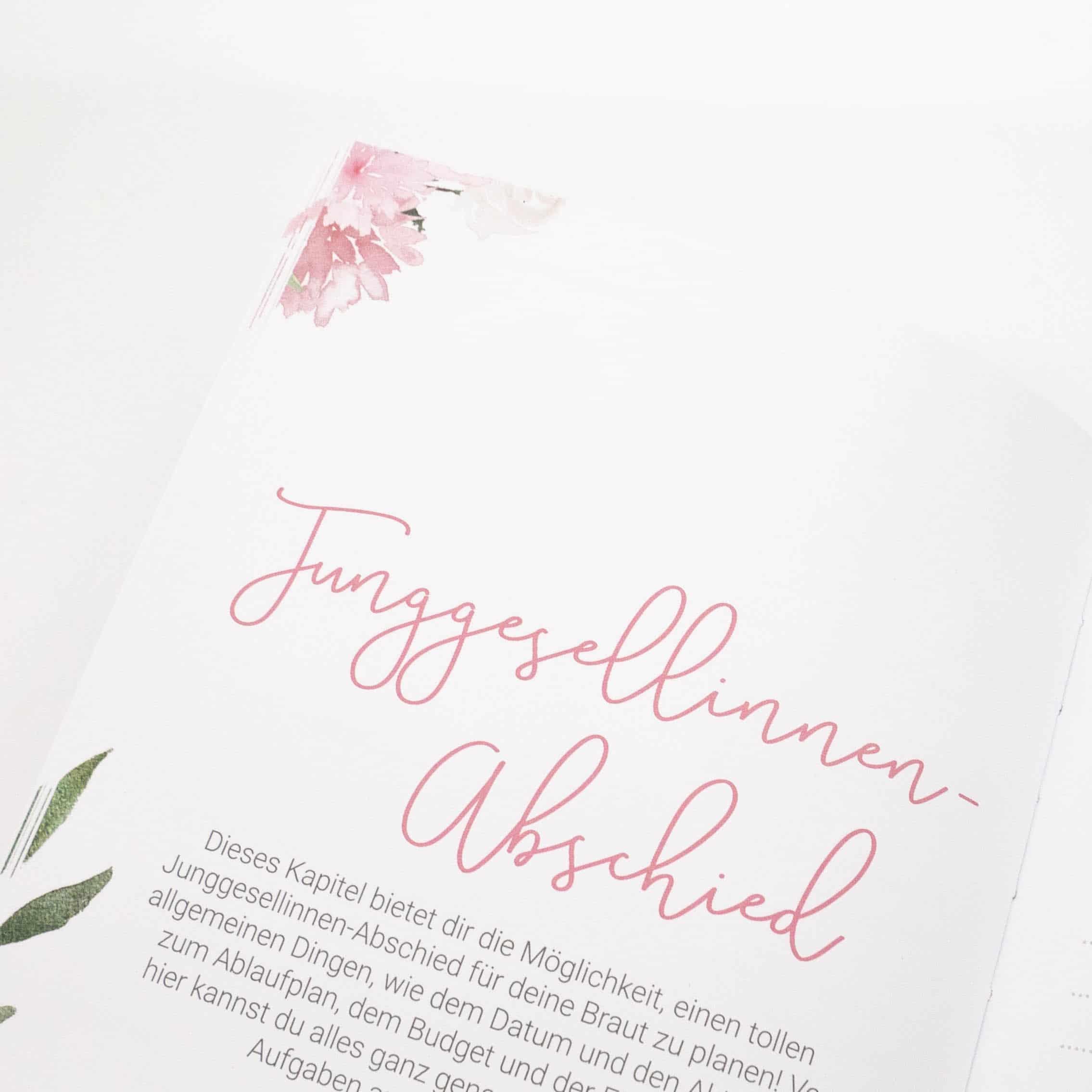 Trauzeuginnen Planer In Rosa Mit Gratis Postkarte Blush