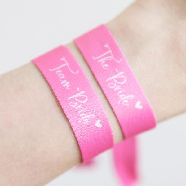 "Armbänder ""The Bride"" & ""Team Bride"" | JGA"