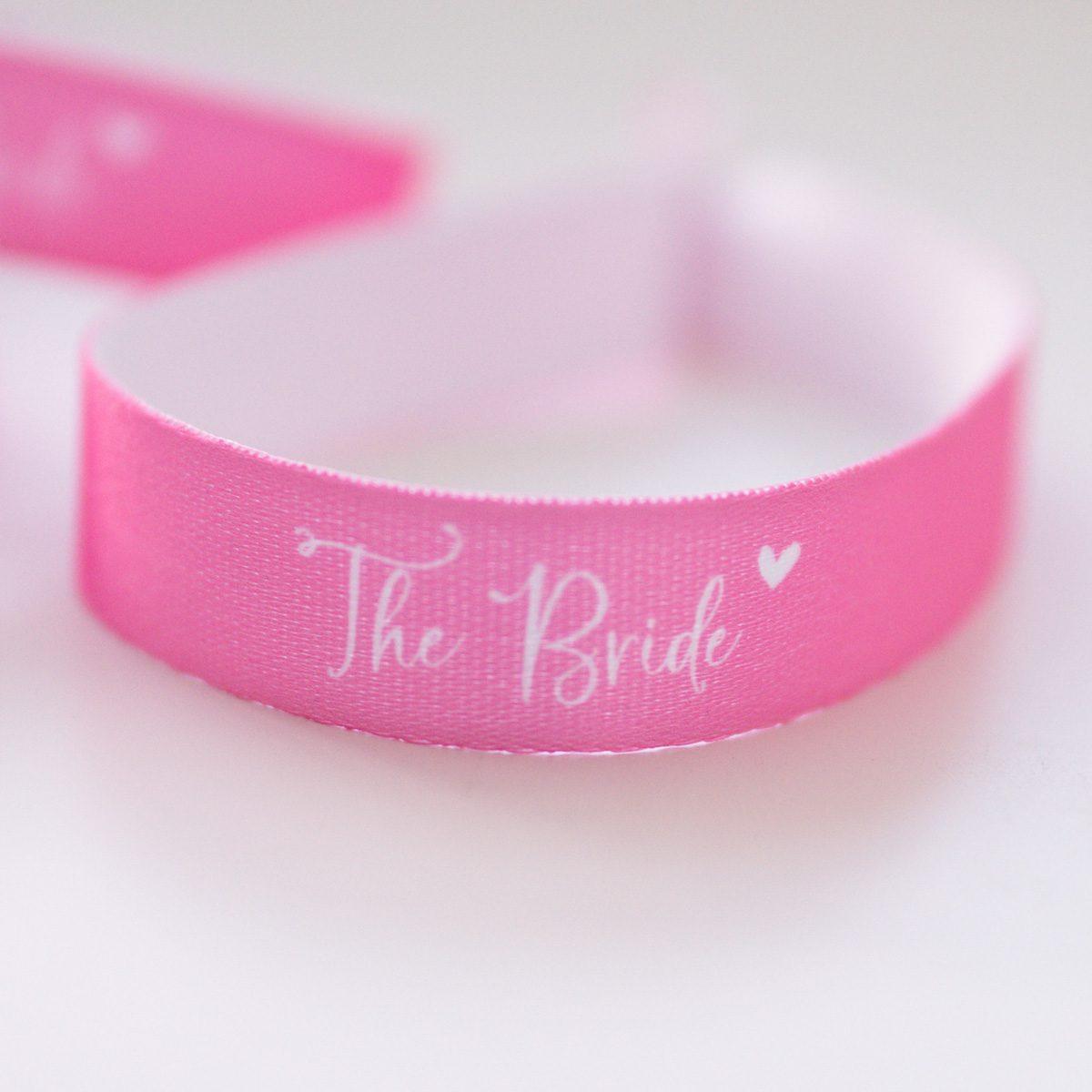 "Armbänder ""The Bride"" & ""Team Bride""   JGA"