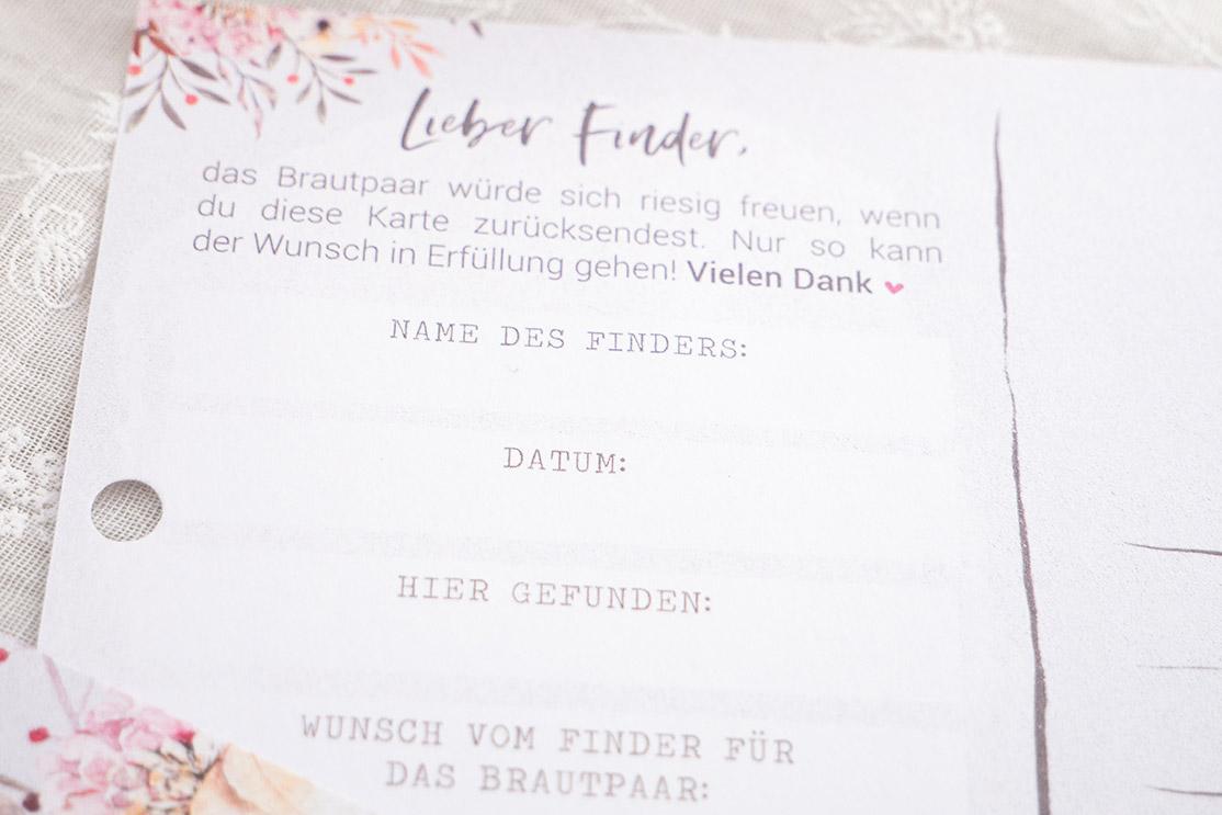 """Ballonflugkärtchen """"Boho Flower"""""""