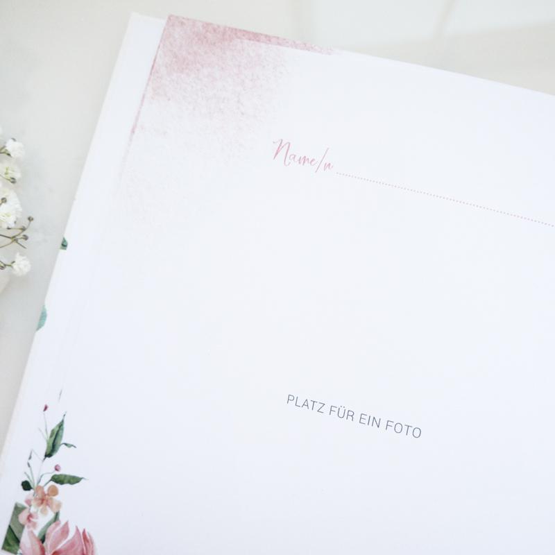 Gästebuch zur Hochzeit | Rose Watercolor