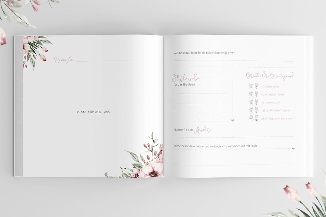 Gästebuch zur Hochzeit | Wild Flowers