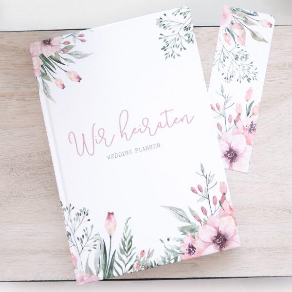"""[B-Ware] """"Wir heiraten"""" - Hochzeitsplaner mit 168 Seiten   Wild Flowers"""
