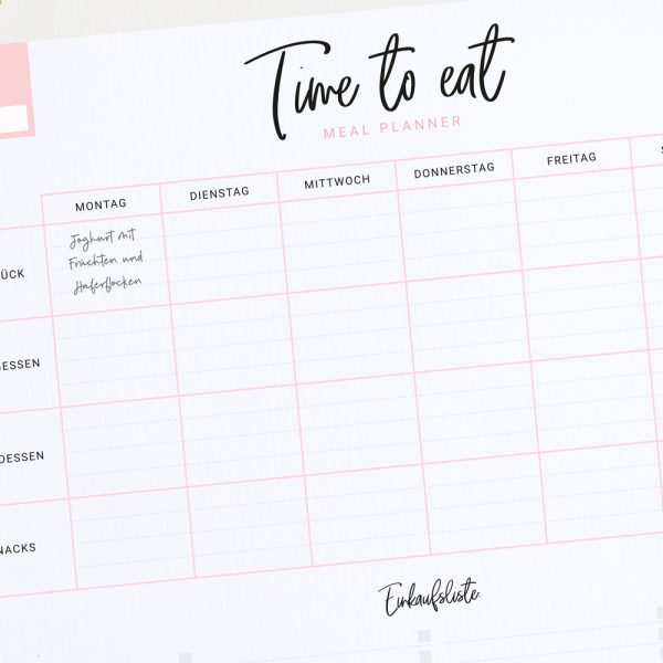 Meal Planner DinA4 | Notizblock