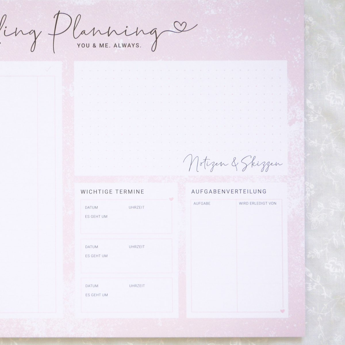 "Planungsblock ""Wedding Planning"" 