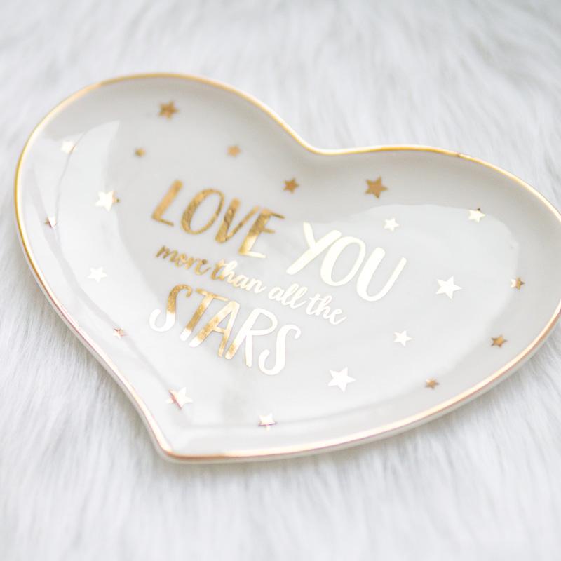"Ringschale ""Love you more than all the stars"" | Porzellan"