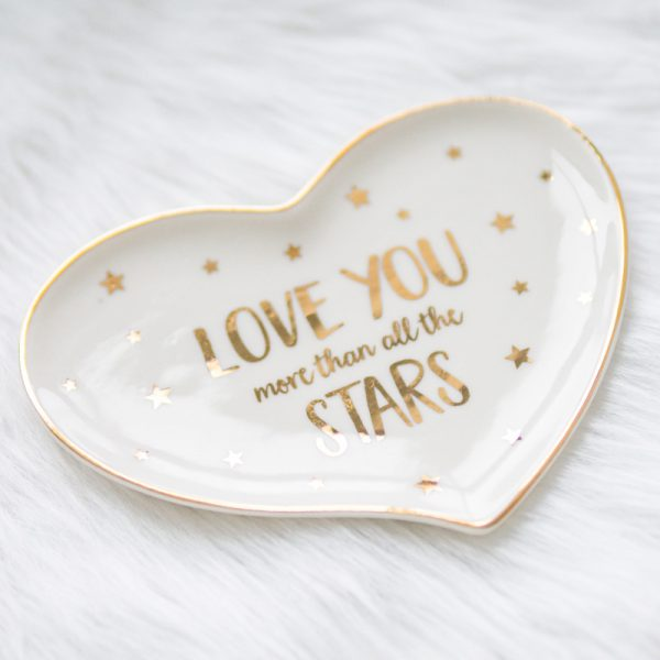 "Ringschale ""Love you more than all the stars"" 