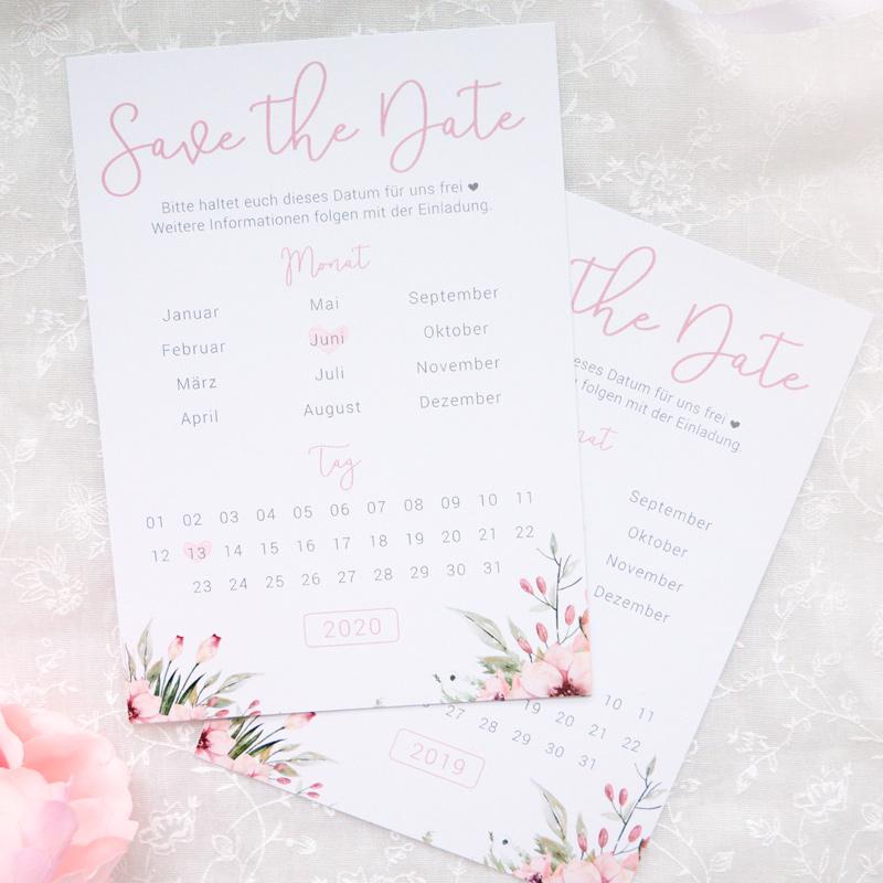 Save the Date Karten | Wild Flowers