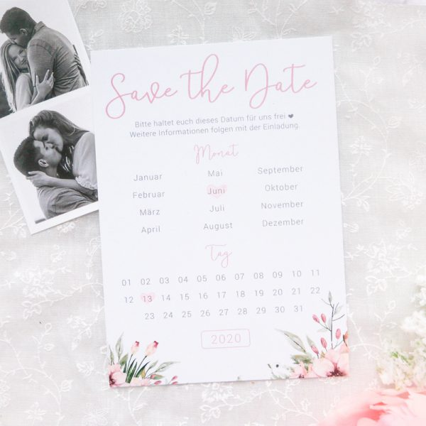 Save the Date Karten | Wild Flowers