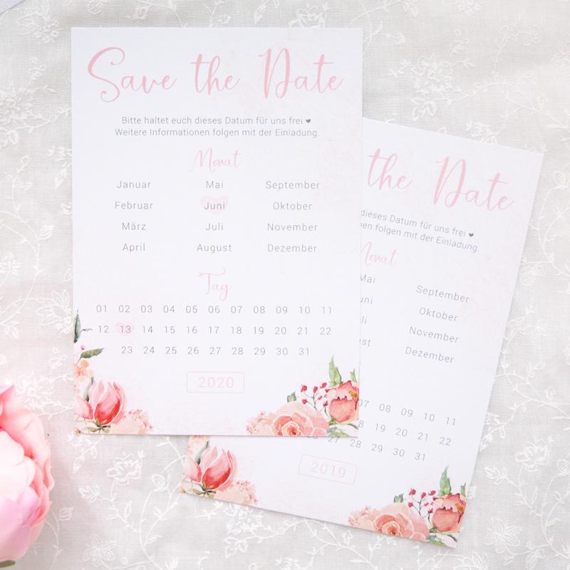 Save the Date Karten | Rose Watercolor