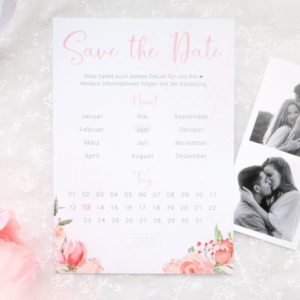 Save the Date Karten | Rose Watercolor