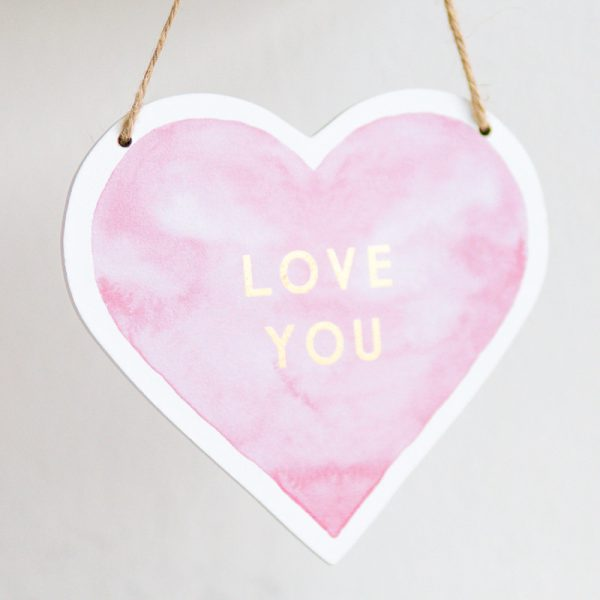 "Herz-Schild ""Love you"""