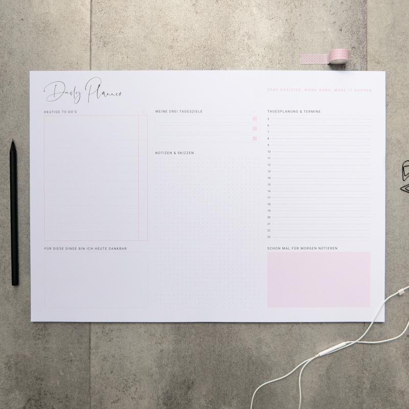 """Schreibtisch-Unterlage """"Daily Planner"""" DinA3"""