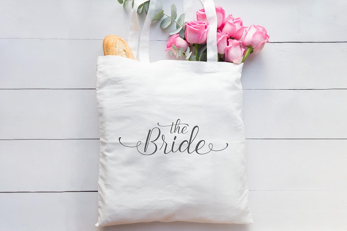 """Stoffbeutel """"The Bride"""", Weiß"""
